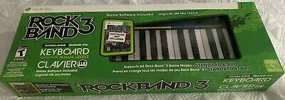 Xbox 360 Rock Band 3 Keyboard Clavier Keys -No Game Mad Catz *Brand New* $0 ship