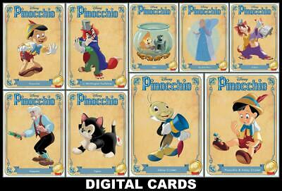 Topps Disney Collect PINOCCHIO 80th Anniversary [9 CARD CHARACTER VARIANT SET]