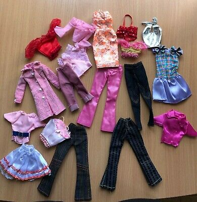 lot outfit dress for barbie fashion royalty, poppy parker 1:6 doll 18 items