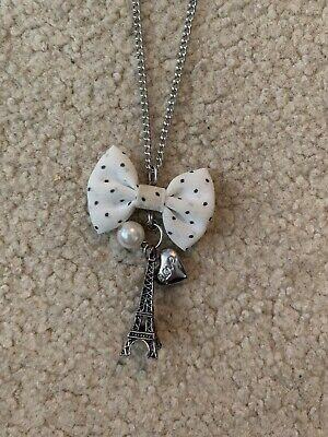 """Kohl/'s 16-18/"""" Sterling Silver GIFT BOW 3D Pendant Charm Necklace Holiday NEW!!!!"""