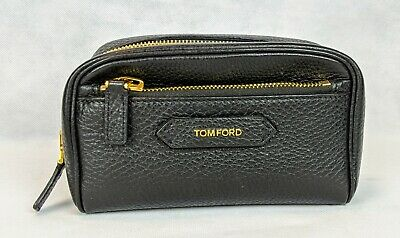 100% Authentic TOM FORD Grain Leather Small Zip Dopp Kit Toiletry Bag NEW $1290