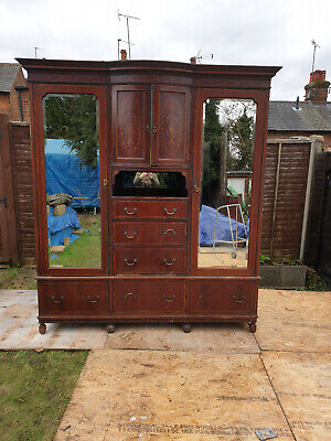 Large Antique Wardrobe see pics for condition