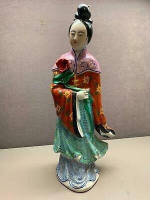 Early 20th Century Female Chinese Famille Rose Porcelain Figurine