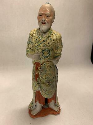 Early 20th Century Male Chinese Famille Rose Porcelain Figurine