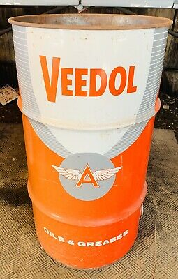 """Veedol """"Flying A""""  Tidewater Company Oil And Greases Barrel"""