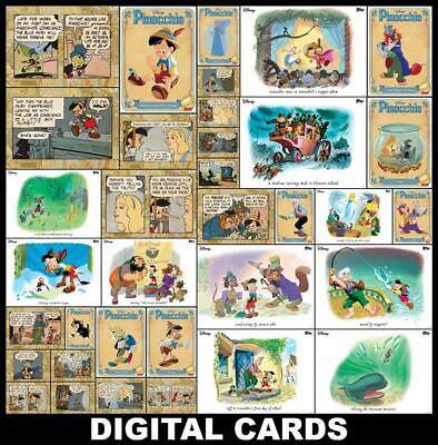 Topps Disney Collect Pinocchio 80th Anniversary [35 CARD COMIC/VARIANT/VINTAGE]
