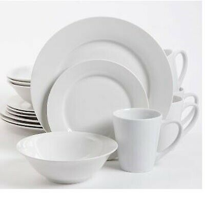 Gibson Home Noble Court 12 Piece Dinnerware Set Service for 4 White 118322.12r