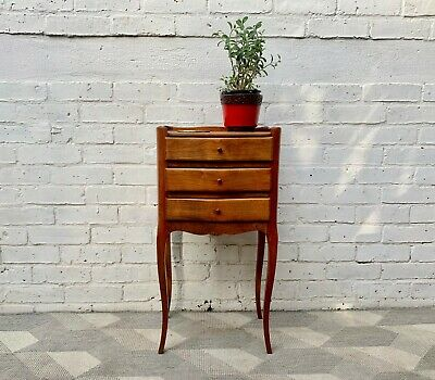 Vintage Bedside Table Louis XV Style French #D306