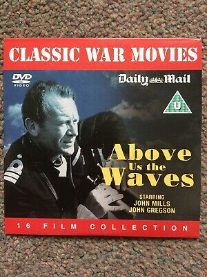 ABOVE US THE WAVES (DVD) B&W JOHN MILLS Daily Mail CLASSIC WAR MOVIES PROMO DVD