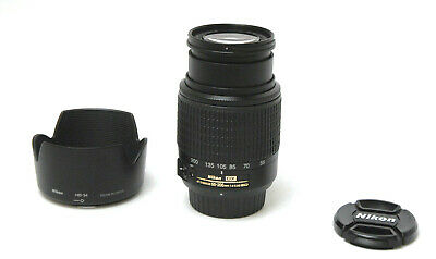 Nikon AF-S DX NIKKOR 55-200mm f/4-5.6G ED Lens Used Excellent w / Hood,Caps