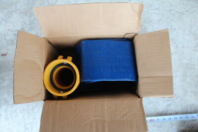 "New GIGA PVC Blue Water Discharge Hose, w/ Camlock, 3"" x 20', US Military Issue"