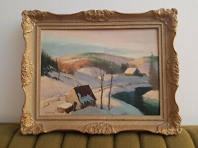 Original Sydney Berne Oil painting!Signed Vintage Collectable. Canadian Rare