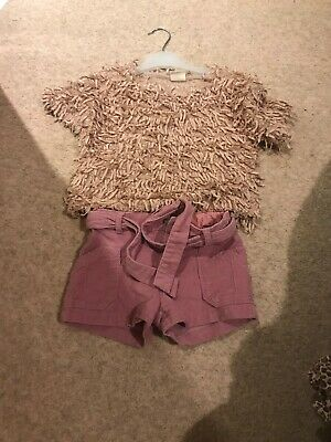 Zara Girls Outfit Age 5 - Shorts Top