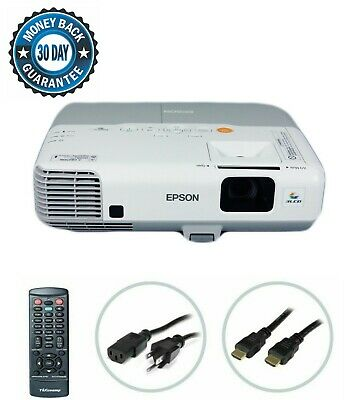 Epson PowerLite 1830 3LCD Projector 3500 ANSI HD HDMI w//Adapter 1080i Remote