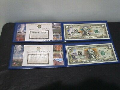 2003a Grand Canyon National Park Colorized $2 Two With Blue Case U.S
