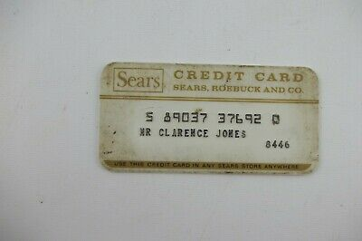 1970's Vintage Sears Department Store Collectors Credit Card