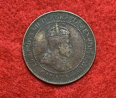 CANADA 1906 King Edward VII Large 1 Cent Coin