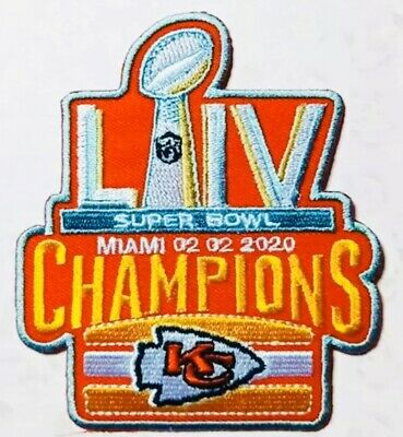 "KANSAS CITY CHIEFS SUPERBOWL 54 LIV CHAMPIONS Patch Iron On 3.5 ""NFL 2019 2020"