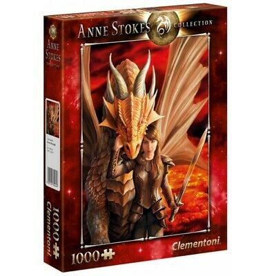 PUZZLE 1000 pzs Anne Stokes Collection: INNER STRENGHT - Clementoni 39464