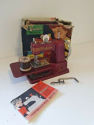 Vintage Vulcan Senior Childs Sewing Machine. Good Condition with Box.