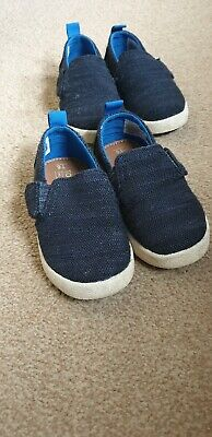 Toms canvas shoes, toddler size UK5 Navy and white Boys