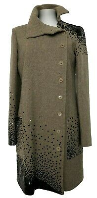 Etro Taupe Gray Coat With Black Sequin Detail, 42, $4450