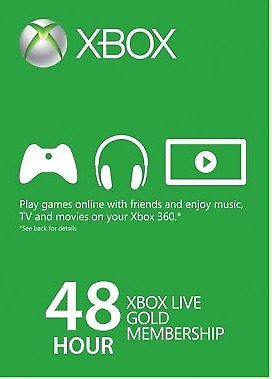 24/7 DELIVERY! Xbox Live Gold 48hrs (New accounts only)
