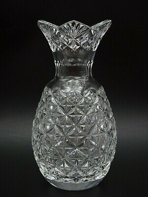 """Brilliant Waterford Crystal Hospitality Collection 8 3/8"""" Pineapple Vase ~ Mint"""