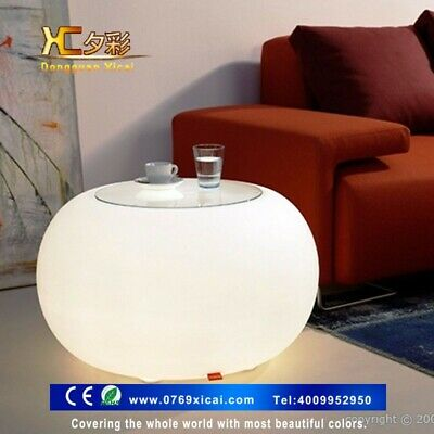 Round Bar Table LED W/ Remote Control Modern Coffee Table High Top Dining Decor
