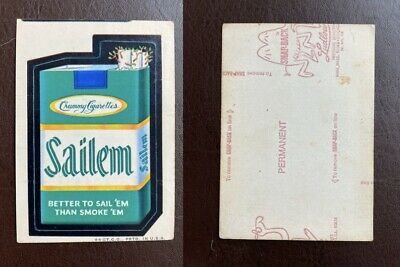 1973 Very Rare Topps Wacky Packages Original 2nd Series SAILEM RED LUDLOW