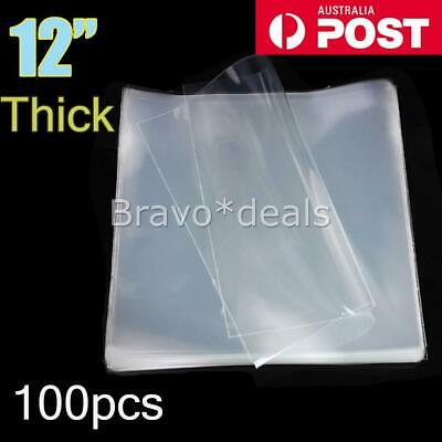 """100 x NEW LP 12"""" CLEAR CLARITY OUTER COVER SLEEVES FOR VINYL RECORDS 80um THICK"""