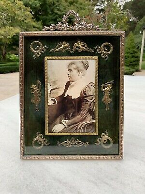 Antique Bronze French Ormolu Large Decorative Photo Frame