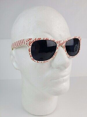 Vintage 1980's Coca-Cola Sunglasses adult size Red & White all over design