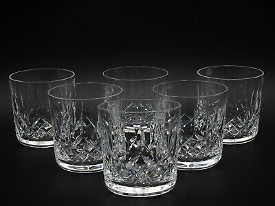 """6 Brilliant Waterford Crystal """"Lismore"""" Old Fashioned Glasses ~ Made In Ireland"""