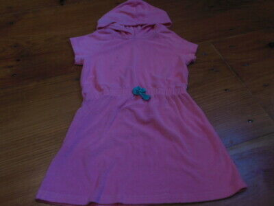 HANNA ANDERSSON 120 US 6-7 yr Pink Terry Cotton Hooded Dress