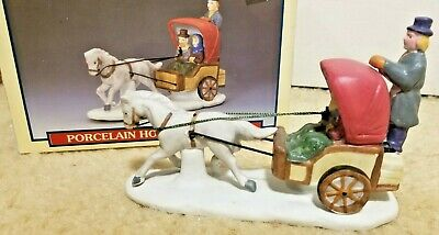 Lemax Porcelain Dickensvale Collection Horse & Buggy 1991