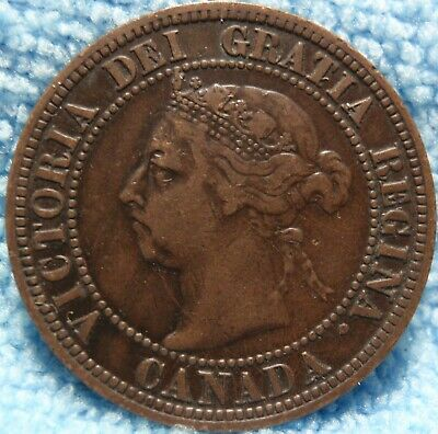 "1891 XF ""Small Leaves, Small Date"" SL SD Canada Canadian Large Cent Penny"