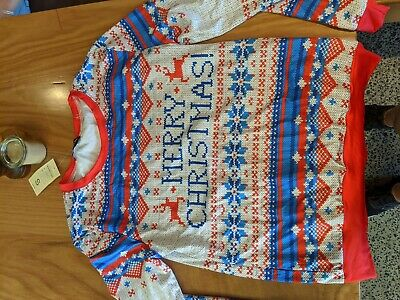 AU Unisex Ugly Christmas Sweater Santa Xmas Jumper Tops Knit Pullover