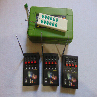 USA Free Wireless switch 12Cues Fireworks Firing System+Smart Remote copper wire