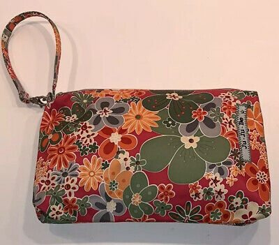 JU-JU-BE   Be Quick Perky Perennials clutch Pouch Diaper Bag Floral Pink & Green