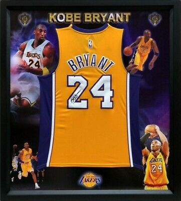 Kobe Bryant Hand Signed #24 La Lakers Yellow Jersey - Extremely Limited