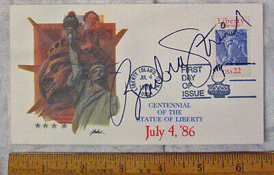 Barbara Streisand Rare Autographed 1986 Statue of Liberty 1st Day of Issue Cover