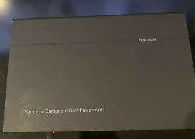 AMEX - American Express - Black Centurion Card - Your Card Has Arrived Package!