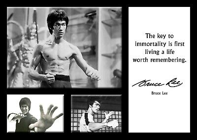Bruce Lee martial arts Poster - Motivational quotes #16 - A3 - 420mm x 297mm