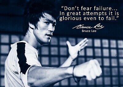Best Selling Bruce Lee Poster - Motivational quote #67 - A3 - 420mm x 297mm