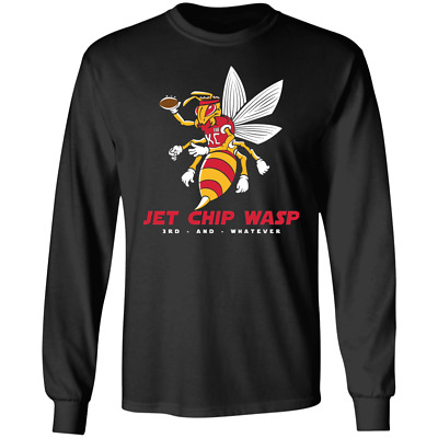 Men's Kansas City Chiefs 'Jet Chip Wasp' Super Bowl 2020 Black T-shirts M-3XL