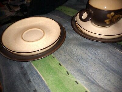 DENBY BAKEWELL CUP AND SAUCER WITH SIDE PLATE & Spare saucer/Side plate