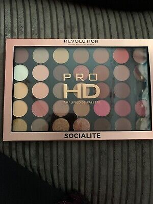 Makeup Revolution Socialite Pro HD Amplified Eyeshadow Palette 35 Shades BNIB