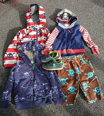 Mini Boden Boys Pirate Bundle 4-5 Years skull crossbones Hoody shoes jackets