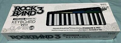 Wii Rock Band 3 Wireless Keyboard Clavier keys Mad Catz *Brand new* $0 shipping
